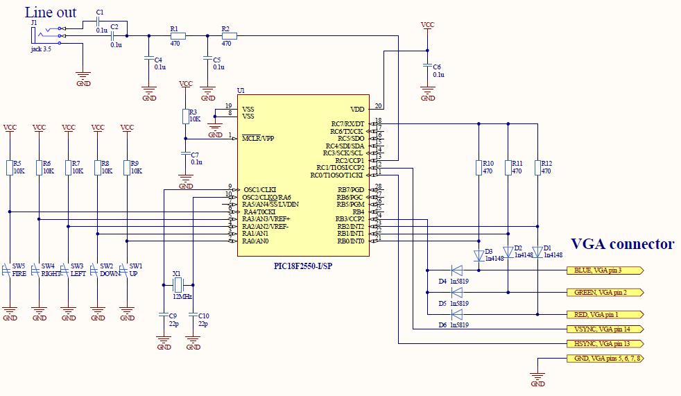 Сердце устройства - микроконтроллер.  Логически схему можно разбить на 4 части. фильтр низких.